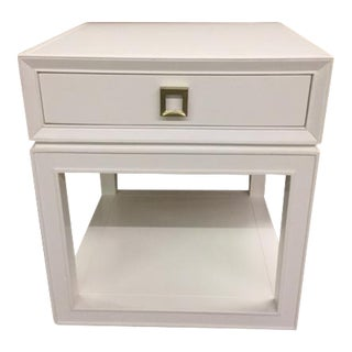 """Malibu Loft"" Single Drawer White Side Table"