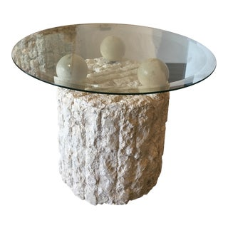 Maitland Smith Architectural Column End Table