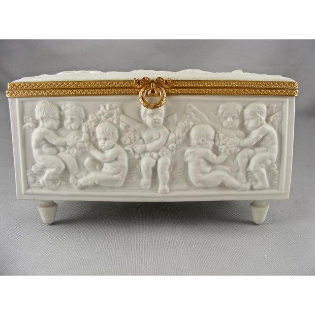 Limoges France White Bisque Dresser Box - Image 2 of 10