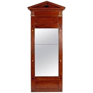 Mid-19th Century Neoclassic Mahogany Mirror With Inlay