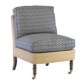 Oomph Chatham Slipper Chair in Custom Turquese Fabric