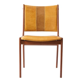 Leather Mid-Century Danish Style Teak Chair