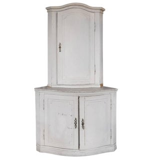 German, Two-Tier Corner Cabinet