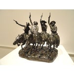 "Image of ""Coming Through the Rye"" Bronze in Remington Style"