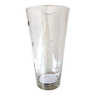 Art Deco Etched Crystal Vase