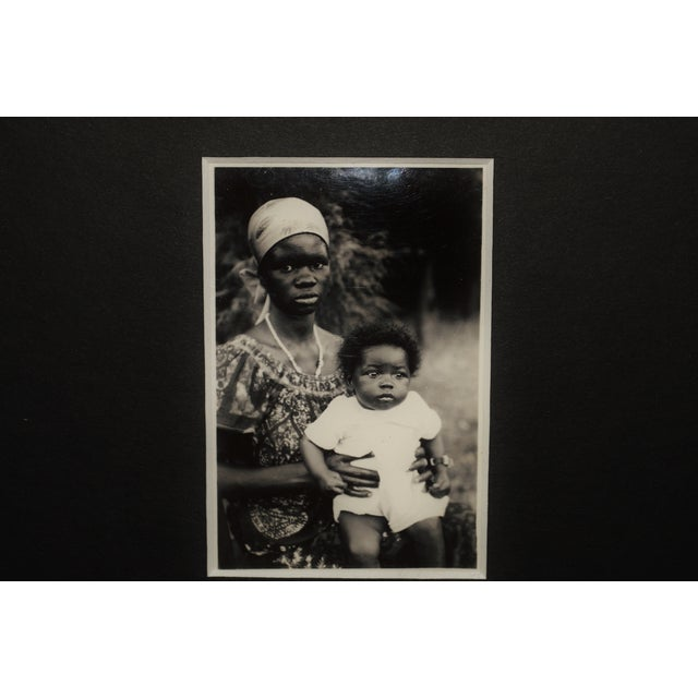 Image of Vintage African Mother & Child Sepia Photograph