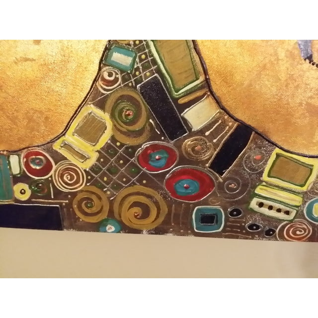 "Klimt Inspired ""Tree of Life"" Gold Leaf Collage - Image 2 of 7"