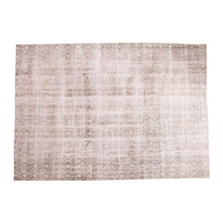 "Distressed Vintage Oushak Carpet - 7'4"" x 10'4"""