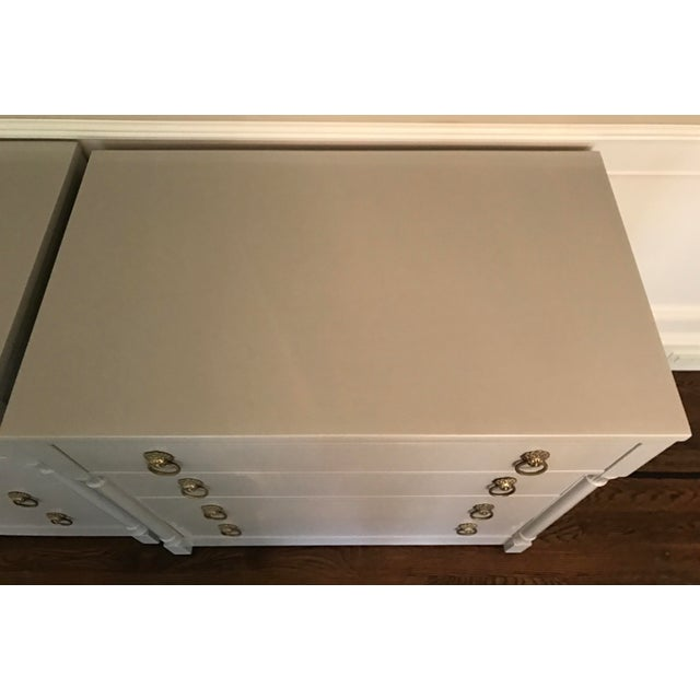 Vintage RWAY Gray Lacquered Chest of Drawers - A Pair - Image 9 of 11