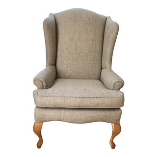 Vintage Brown Wingback Chair