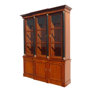 Vintage Baker Furniture Federal Style Solid Wood China Cabinet