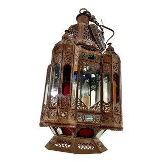 Vintage Moroccan Large Hanging Light