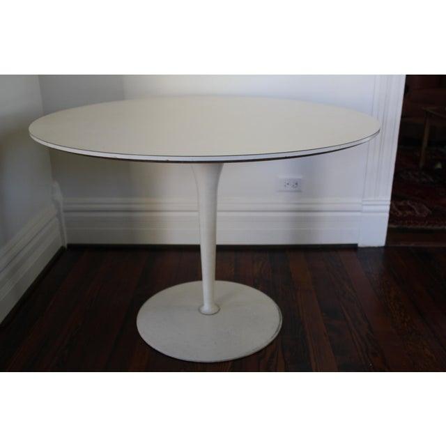 Vintage Saarinen Style White Tulip Dining Table - Image 2 of 11