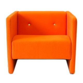 Orange Felt Bottoni Chair by Moooi