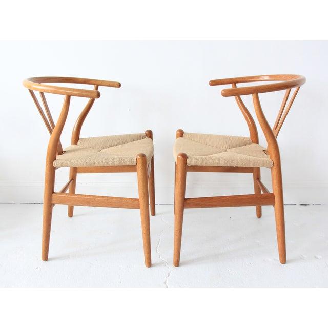 vintage hans wegner wishbone chairs set of 4 chairish. Black Bedroom Furniture Sets. Home Design Ideas