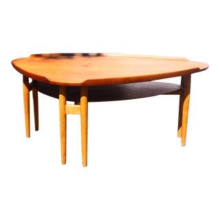 Rare Arne Vodder Asymmetrical Coffee Table