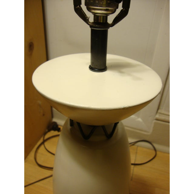 Rembrandt Style Matte White Pottery Lamp - Image 10 of 10