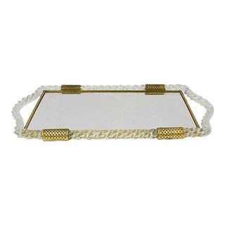 Italian Glass Vanity Tray