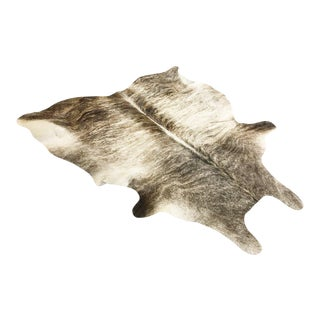Grey Brindled Cowhide Rug - 5′9″ × 6′5″