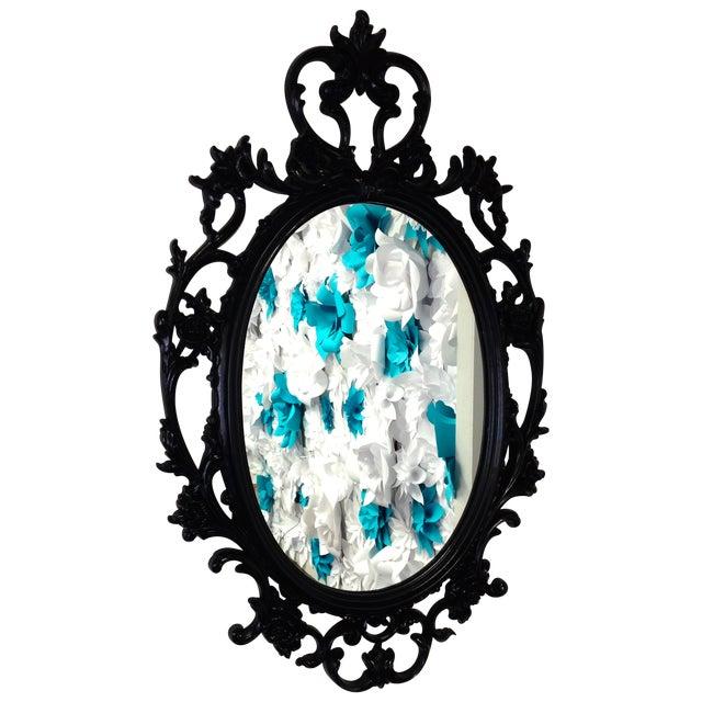 Image of Black Ornate Mirror