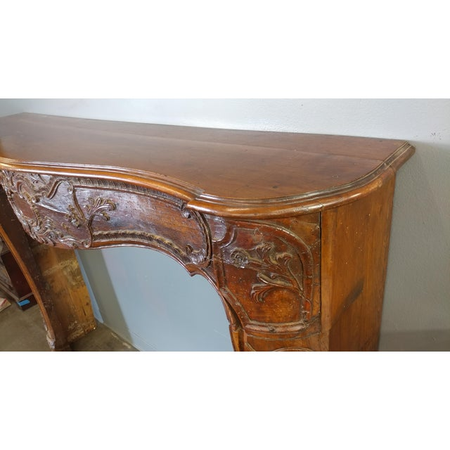 19th Century Hand Carved Walnut Fire Mantel - Image 8 of 10