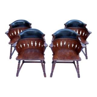 Viking Oak Captains Chairs by Romweber - 4