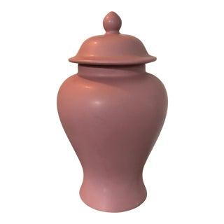 Matte Mauve Ginger Jar