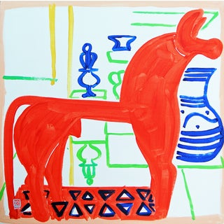 Horsey Original Acrylic Painting