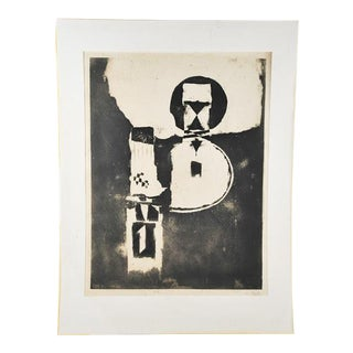 "Johnny Friedlaender ""Circle Man"" Original Lithograph"