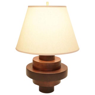 Wood Disc Table Lamp