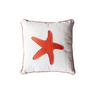 Orange Starfish Pillow