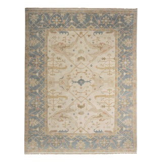 Traditional Turkish Anatolian Oushak Style Room Size Rug, late 20th century