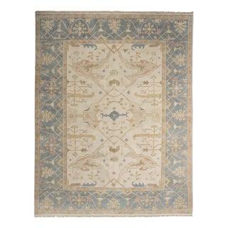 "Traditional Turkish Anatolian Oushak Style Room Size Rug, Late 20th Century - 7'12"" x 10'2"""