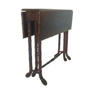 Antique Faux Bamboo Gate Leg Table