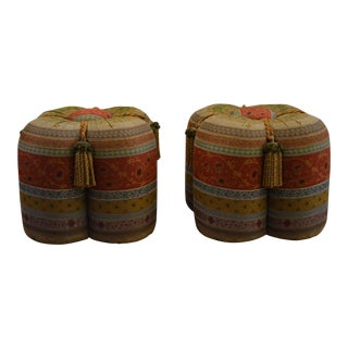 Horchow Upholstered Ottomans - A Pair