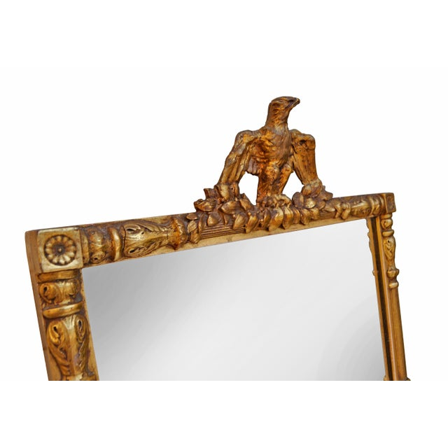 Image of Federal Style Gold Brass & Gilt Eagle Mirror
