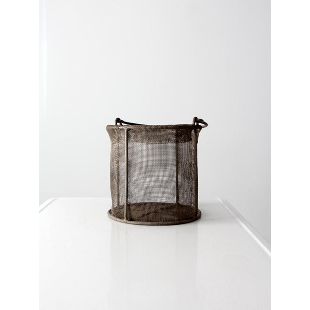 Image of vintage wire mesh basket