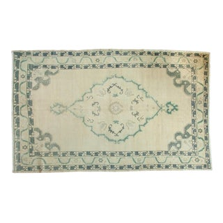 Vintage Distressed Oushak Carpet - 6' x 9'8""