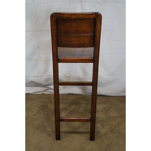 Jonathan Charles Country Farmhouse Walnut Barstool - Image 4 of 10