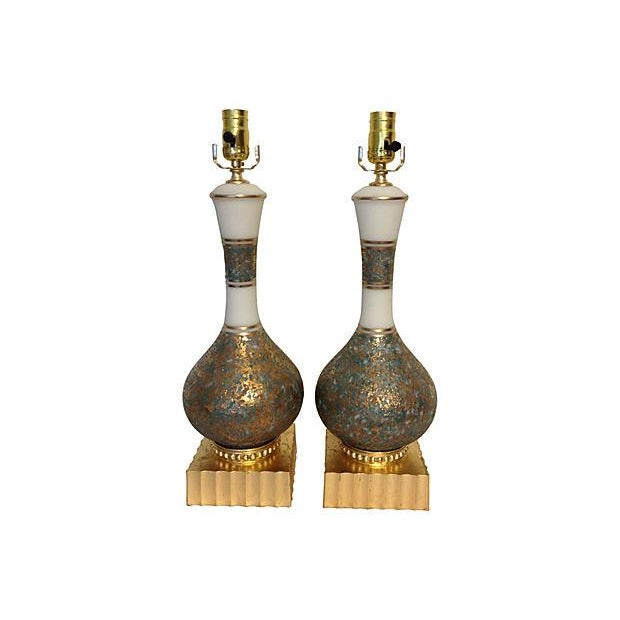 Hollywood Regency Style Lamps- A Pair - Image 1 of 3