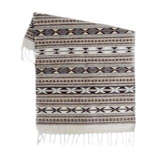 Grey Handwoven Oaxaca Wool Rug - 2′ × 3′