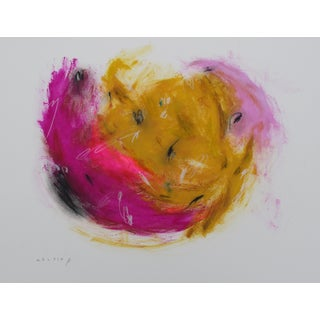 Rosa E Giallo Uno Mixed Media Painting