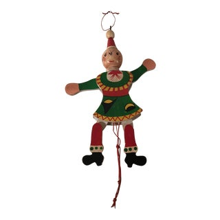 Vintage Holiday Pull Toy Ornament
