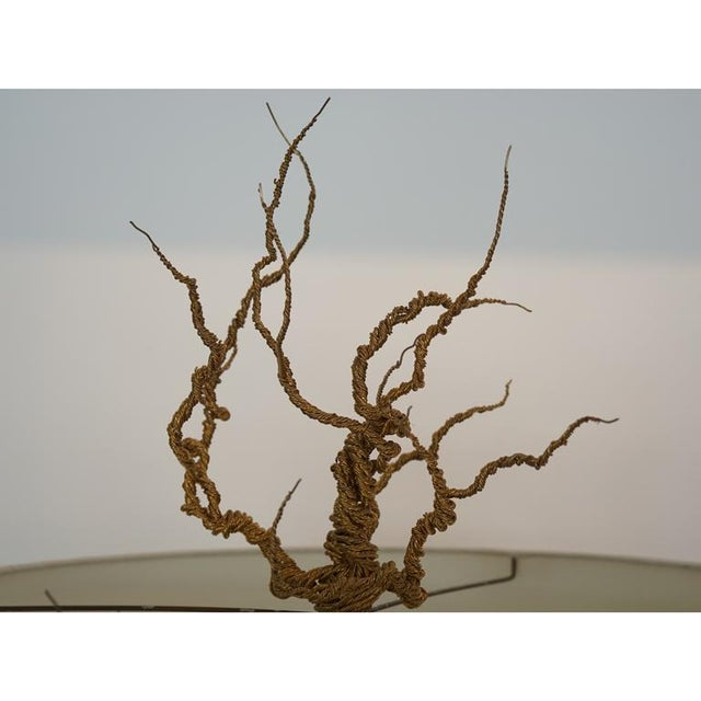 Twisted Brass Wire / Tripod Floor Lamp - Image 5 of 6