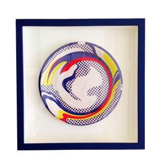 """Roy Lichtenstein """"Paper Plate"""" 1969 Framed"""