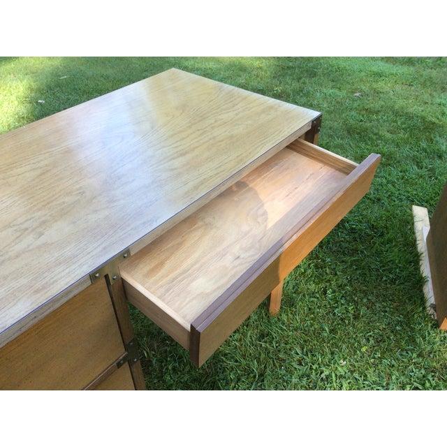 """1960's Drexel """"Campaigner"""" Desk - Image 6 of 8"""