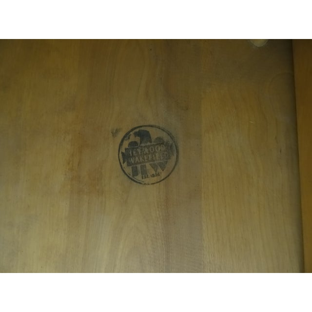Image of Heywood Wakefield Wheat Gate Leg Drop Leaf Table
