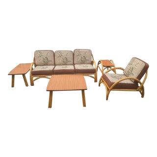 Vintage Bamboo Sofa Set