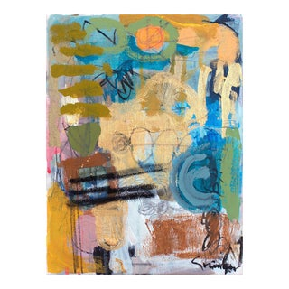 "Lesley Grainger ""The Golden Hour"" Original Abstract Painting"