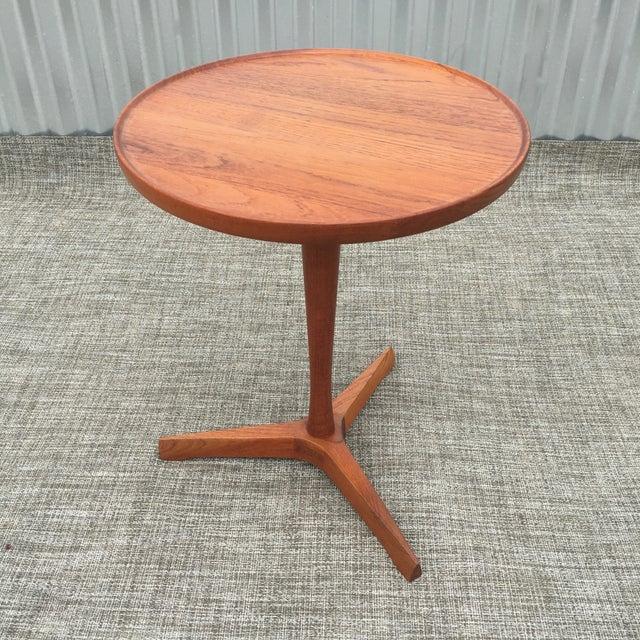 Danish Modern Hans Andersen Tripod Side Table - Image 3 of 6